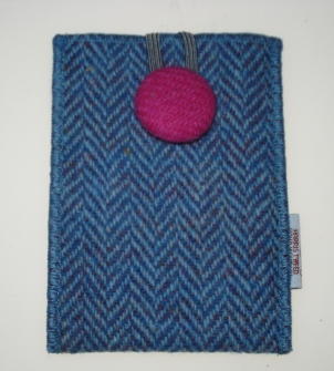 tweed phone pouch
