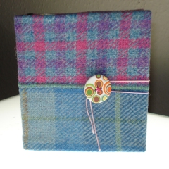 Harris tweed notebook cover