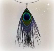 peacock feather choker