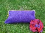 Harris Tweed Clutch Purple