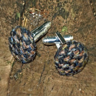 tweed cufflinks